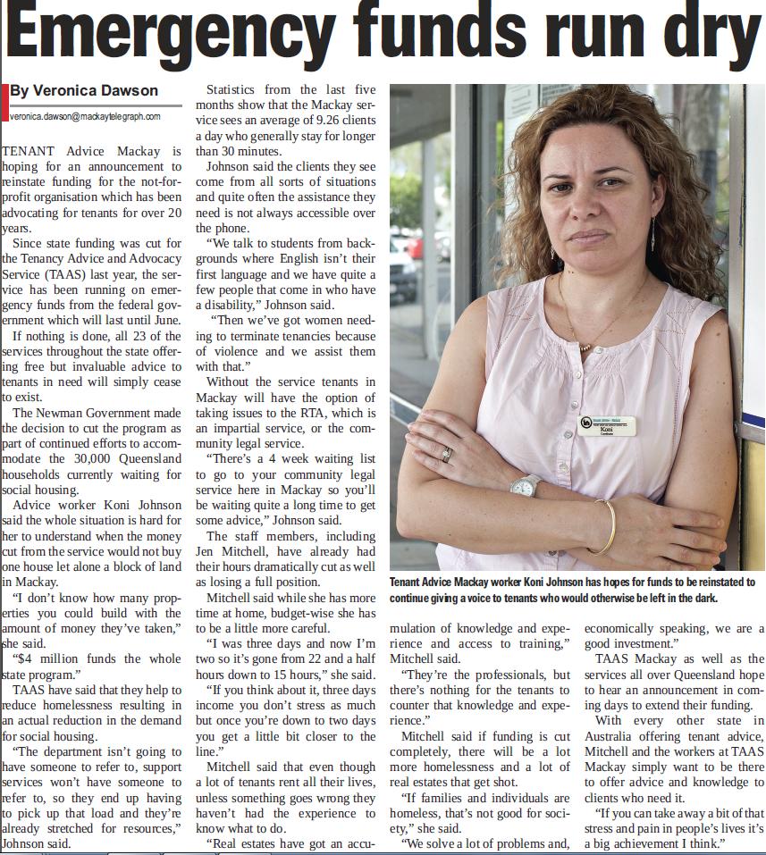 Mackay Telegraph April 2012