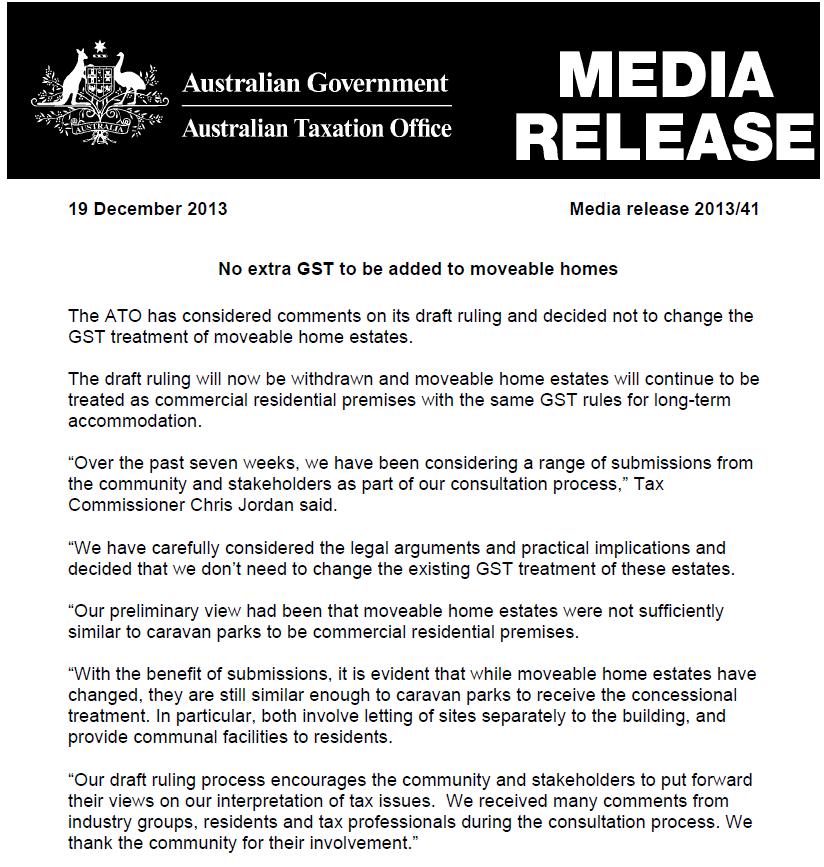 GST ATO withdraws